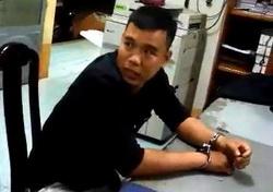 Một trong 3 thanh niên tấn công CSGT bị bắt. Ảnh: Thái Hà