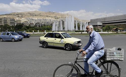 Đường phố Damascus hôm 14/4. Ảnh: AFP