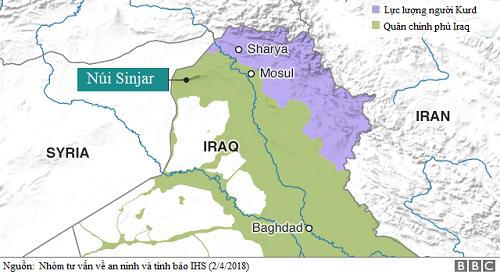 Gia đình Khalid đã chạy nạn từ núi Sinjar tới Sharya, khu tự trị của người Kurd ở miền bắc Iraq. Ảnh: BBC.