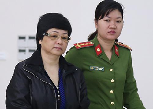 Bị cáo Châu Thị Thu Nga tại phiên tòa phúc thẩm. Ảnh: Phạm Dự