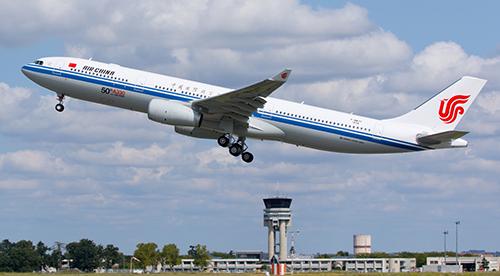 Một máy bay của Air China. Ảnh:asiatraveltips
