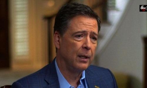 Cựu giám đốc FBI James Comey trong buổi phóng vấn với ABC. Ảnh: ABC.