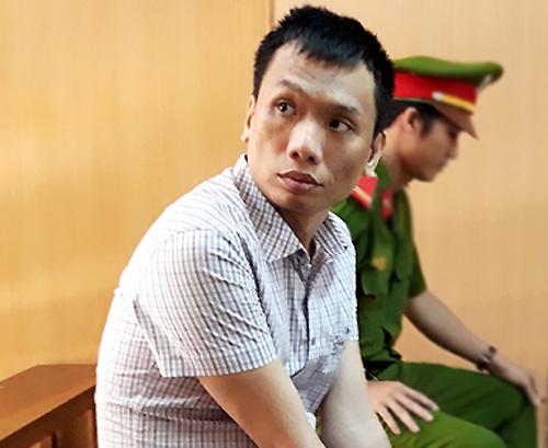 Bị cáo Dương tại tòa hôm nay. Ảnh: Bình Nguyên.