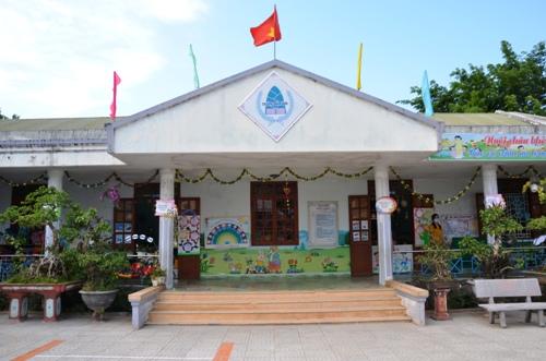 Trường Mầm non Sao Mai là một trong những trường thuộc tốp đầu của tỉnh Quảng Ngãi: Ảnh: Phạm Linh.