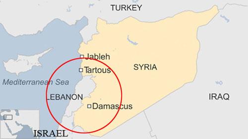 Hệ thống S-300 đặt ở thủ đô Syria có thể giúp nước này phát hiện tiêm kích Israel hoạt động trên không phận Lebanon. Đồ họa: BBC.