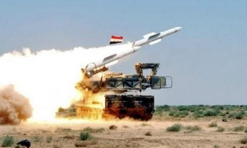 Phòng không Syria trong một lần khai hỏa. Ảnh: Military Edge.
