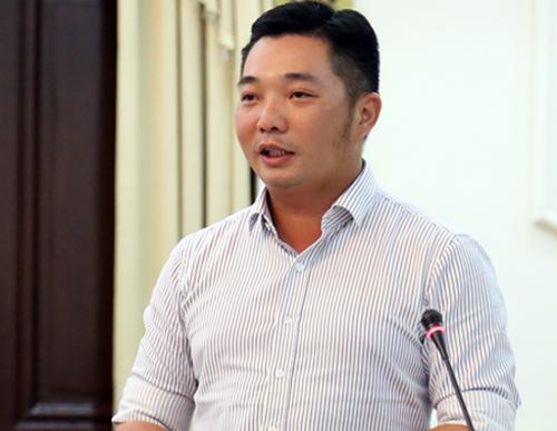 Chủ tịch quận 12 Lê Trương Hải Hiếu. Ảnh: Hữu Nguyên.