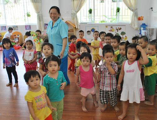 Trường mầm non tại quận Tân Bình. Ảnh: Mạnh Tùng.