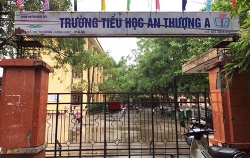 Trường Tiểu học An Thượng A (Hoài Đức, Hà Nội), nơi có giáo viên bị tố dâm ô học sinh. Ảnh: Gia Chính.