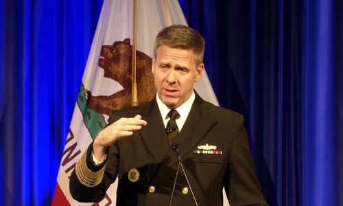Đô đốc Mỹ Philip Davidson. Ảnh: US Navy.