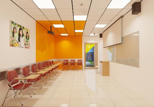 Trung tâm mới gồm các phòng học được đầu tư trang thiết bị hiện đại theo chuẩn quốc tế.