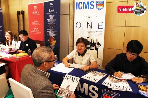 ICMS thường xuyên tham dự cácchương trình hội thảo để cung cấp thông tin về trường và học bổng trực tiếp đếnhọc sinh, sinh viên.