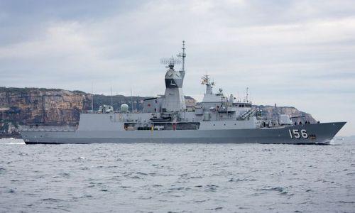 Tàu HMAS Toowoomba. Ảnh: Hải quân Australia.