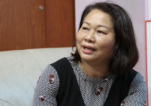 BàTrần Thị Thiết, Chủ tịch Hội đồng quản trị trường Tiểu học - THCS - THPT Victory ởĐăk Lăk. Ảnh: Thùy Linh