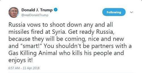 Lời đe dọa tấn công của ông Trump trên mạng xã hội. Ảnh: Twitter.