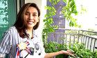 Võ Hoàng Yến trồng rau trong căn hộ hơn 90 m2