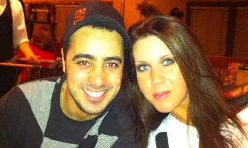 Moussa Elhassani và Samantha Sally chụp năm 2013. Ảnh: Facebook.