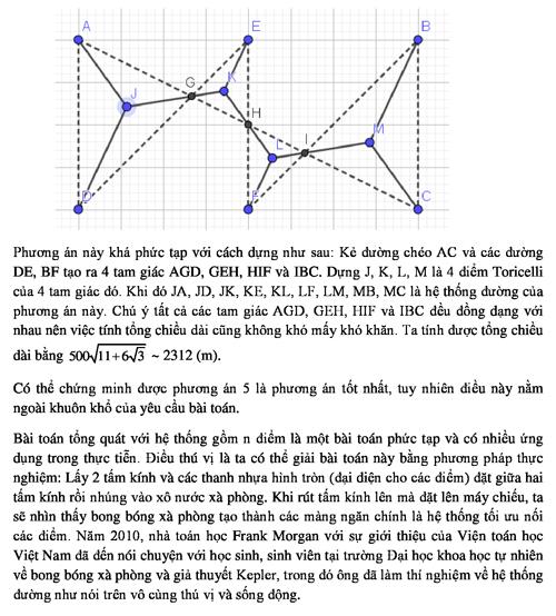 Đáp án bài toán hệ thống liên lạc trong pháo đài - 2