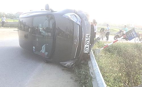 Chiếc ôtô trong vụ tai nạn.