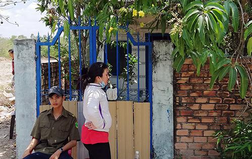 Căn nhà nơi xảy ra vụ việc. Ảnh: Nguyễn Khoa