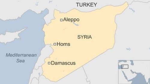 Vị trí tỉnh Homs. Đồ họa: BBC.