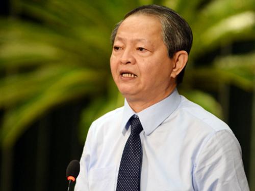 Phó chủ tịch UBND TP HCM Lê Văn Khoa. Ảnh: Ngọc Hậu