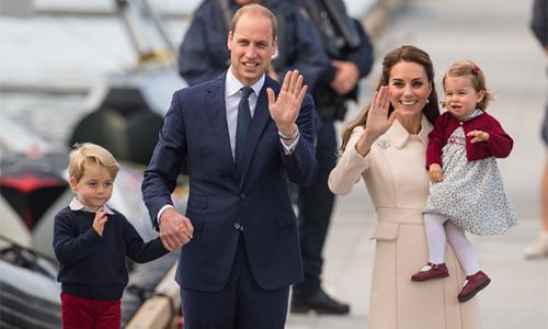 Gia đình hoàng tử William và công nương Kate. Ảnh:Telegraph.