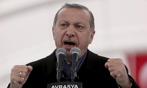 Tổng thống Thổ Nhĩ Kỳ Erdogan. Ảnh: AP.