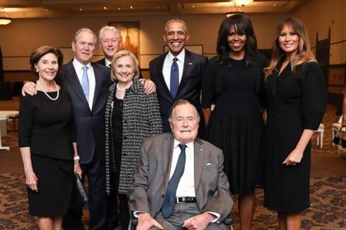 4 cựu tổng thống Mỹ dự tang lễ Barbara Bush