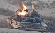 Phiến quân liên tiếp bắn cháy hai xe tăng của quân đội Syria