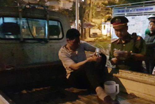Dương bị cảnh sát bắt sau khi gây tai nạn. Ảnh: N.T.