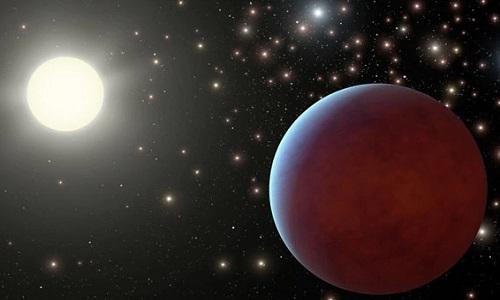WASP-104b là một trong những hành tinh tối nhất từng được phát hiện. Ảnh minh họa: NASA.