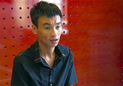 Nguyễn Thanh Phương tại cơ quan điều tra. Ảnh: Nghiêm Túc