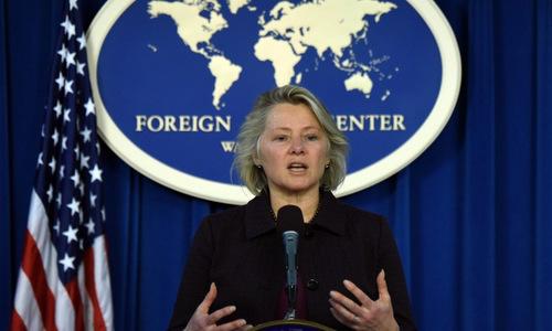 Quyền Trợ lý Ngoại trưởng Mỹ Susan Thornton. Ảnh: AFP.