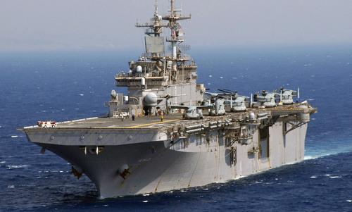 Tàu đổ bộ USS Wasp. Ảnh: US Navy.