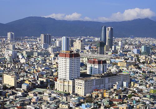 Một góc đô thị Đà Nẵng nhìn từ trên cao. Ảnh: Nguyễn Đông.