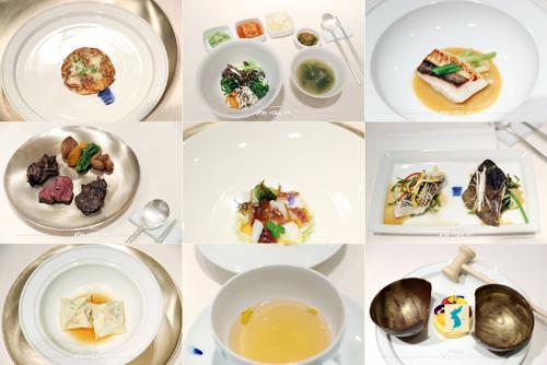 Những món trong thực đơn tiệc tối ngày 27/4 của hội nghị thượng đỉnh liên Triều. Ảnh: Nhà Xanh.