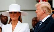 Melania từ chối nắm tay Trump khi đón vợ chồng Tổng thống Pháp
