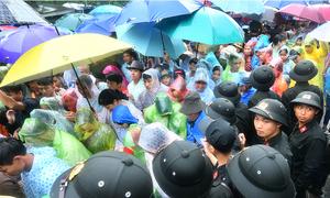 Dòng người đội mưa dâng hương vua Hùng