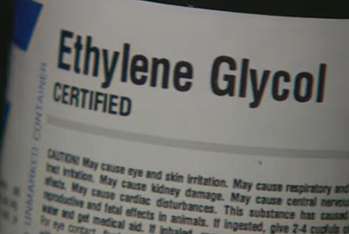 Ethylene Glycol, chất nghi ngờ gây độc.