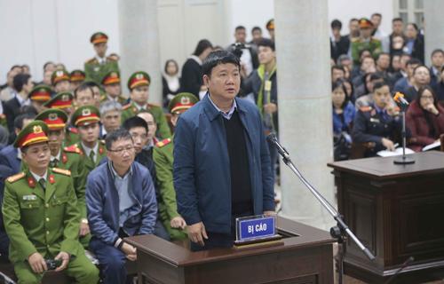 Ông Đinh La Thăng tại TAND TP Hà Nội. Ảnh: TTXVN.