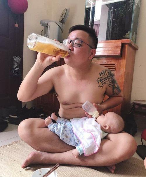 Bố con cùng no say.