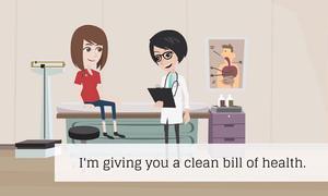 Ý nghĩa cụm từ 'clean bill of health'