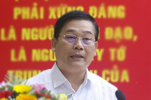 Ông Nguyễn Thanh Quang tại buổi tiếp xúc cử tri quận Thanh Khê chiều 26/4. Ảnh: N.T.