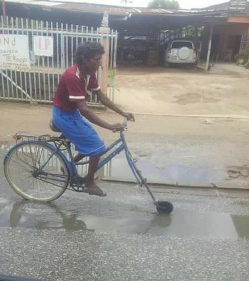 Xe đạp độc đáo.