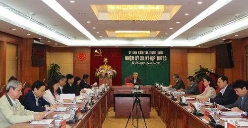 Kỳ họp thứ 23 của Uỷ ban Kiểm tra Trung ương. Ảnh:PV