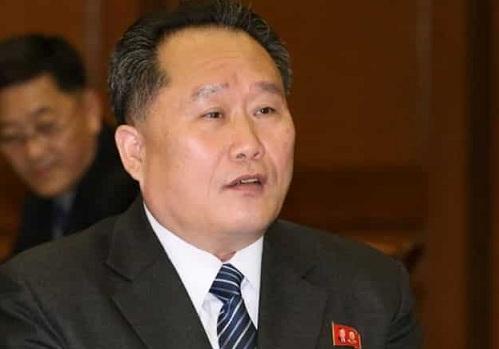 Chủ tịch Ủy ban Tái thống nhất Hòa bình Triều TiênRi Son-gwon. Ảnh: BBC.