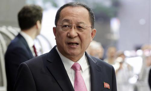 Bộ trưởng Ngoại giao Ri Yong-ho. Ảnh: BBC.