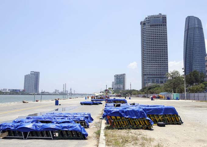 Trận địa pháo hoa quốc tế Đà Nẵng trước ngày khai hỏa