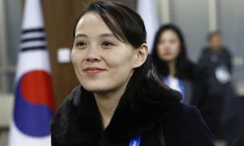 Em gái lãnh đạo Triều TiênKim Yo-jong. Ảnh: BBC.